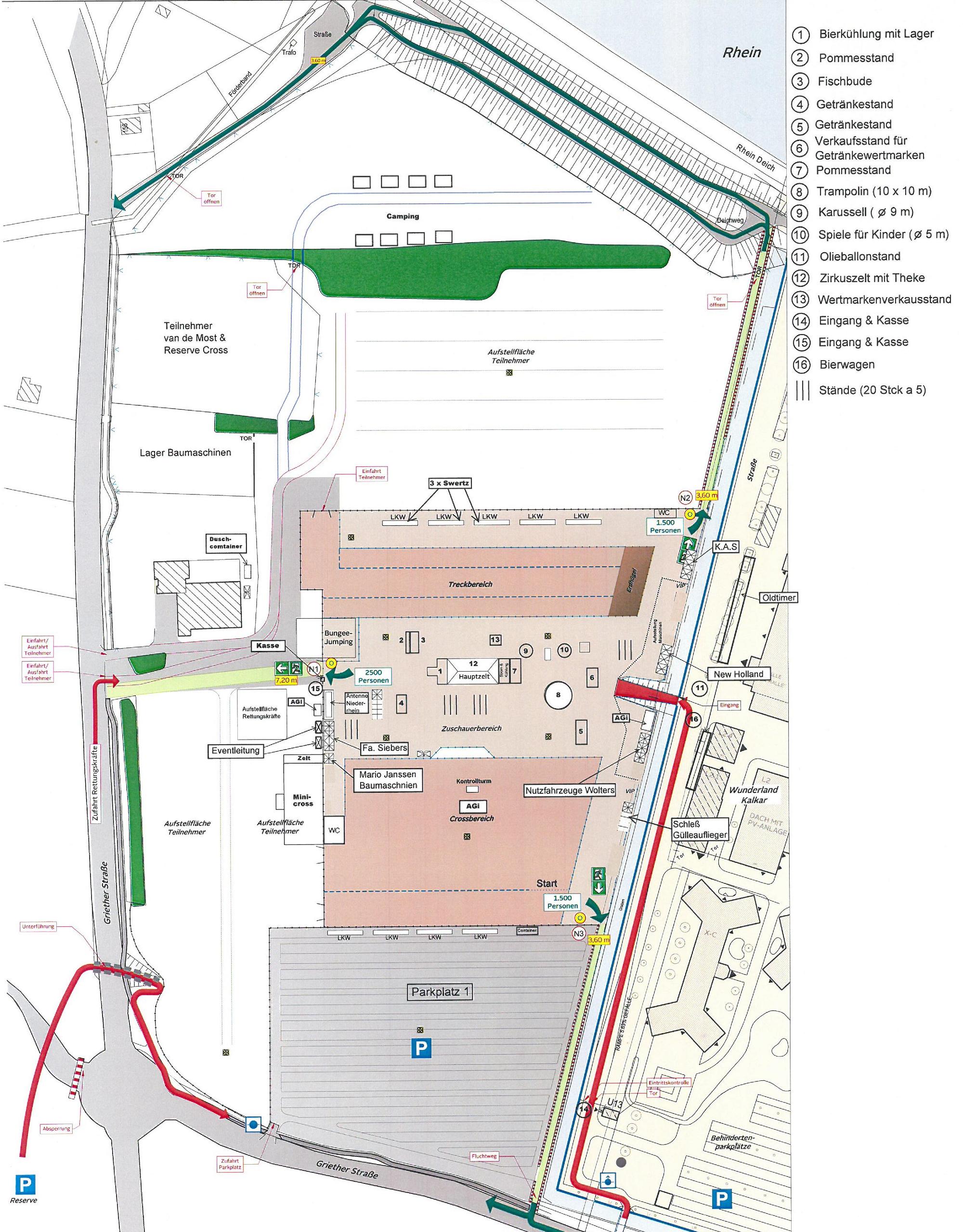 Boeren-Treck-Spektakel Geländeplan